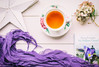 158/365: Another book, another cup of tea (judi may...mostly off until mid July) Tags: 365the2018edition 3652018 day158365 07jun18 book flowers iris hydrangea purple teacup tea cupoftea scarf star wood tabletopphotography stilllife flatlay canon5d 50mm soft softness matte