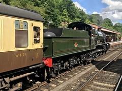7802 arrives at Bewdley (Flikrman Gaz) Tags: severnvalleyrailway steam