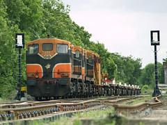 177 & 147 at Gort 13-June-08 (metrovick) Tags: irishrail iarnrodeireann ie141class emd emdexportloco jl8 pwdtrain railroad railway railwaygalway railwaygort