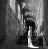 Window Light (John St John Photography) Tags: thecloisters metropolitanmuseumofart forttryonpark newyorkcity newyork streetphotography candidphotography entrance stairs staircase white dress romanesque architecture medieval art sculpture paintings bw blackandwhite blackwhite blackwhitephotos johnstjohn