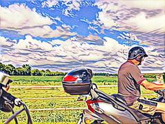 Fahrradtour, bicycle tour (wb.fotografie) Tags: fahrrad rad radtour roller vespa motorroller felder bicycle tour bildbearbeitung