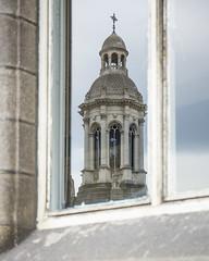 the Campanile ~ HWW (Wendy:) Tags: tcd photowalk buildings anglesuniversityofdublin campanile reflection window hww