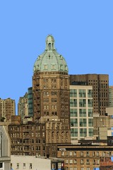 Vancouver British Columbia- The Sun Tower - 1912_ Beaux Arts Architecture (Onasill ~ Bill Badzo - 54M View - Thank You) Tags: suntower sun newspaper bc vancouver downtown 1912 style architecture beaux arts british columbia commonwealth dominion canada cornice 128 west pender street patina dome copper roof terra cotta ladies taylor world tallest onasill heritage nrhp historic building empire attraction tourist travel chinatown blue sky