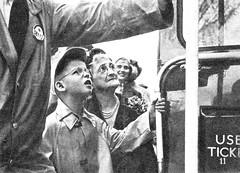 New Yorker young boy looks on in wonder at RT2776 in 1952. (Ledlon89) Tags: rt rtbus rtl rtlbus leylandtitan aecregent aec leyland lt lte london bus buses londontransport londonbus londonbuses canada usa america 1952 tour 19950s transport