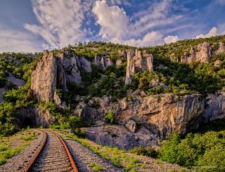 Kanjon Vele Drage sa željezničke pruge
