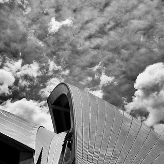 Dramatic skies Sydney Opera House