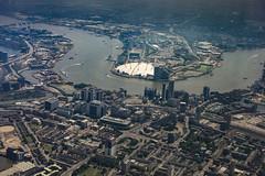 North Greenwich etc. (London Less Travelled) Tags: uk unitedkingdom england britain london birdeye aerial greenwich o2 areas dome river thame