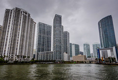 Condo Towers on Miami River - Miami FL (mbell1975) Tags: miami florida unitedstates us condo towers river fl fla water bay inlet ocean atlantic biscayne condominiums condominium apartment apartments tower buildings building office overcast cloudy