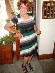 To Be A Woman (Laurette Victoria) Tags: dress sandals redhead curly woman laurette