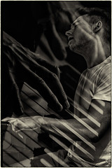 The Piano Man (Laura Drury) Tags: piano pianist musician man singer entertainer monochrome blackwhite instrument hands