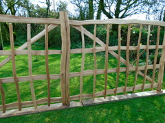 "Cleft Oak Gates • <a style=""font-size:0.8em;"" href=""http://www.flickr.com/photos/61957374@N08/28702865438/"" target=""_blank"">View on Flickr</a>"