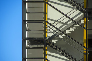 Stairwell with yellow edges