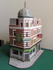 Filling corners (kingsway john) Tags: kingsway models 176 scale oo gauge card buildings kits shops pub aph dome tram tramway layout
