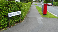 Elizabeth 2 cypher  B type post pillar box Wyndham Road Poole 07.09.2017 (1) (The Cwmbran Creature.) Tags: g p o gpo general post office street furniture red heritage letter great britain gb