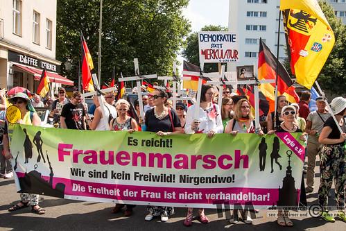 AfD-Frauenmarsch: Proteste 09.06.2018