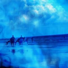 Into the Blue (Karen Kleis) Tags: abstract arteffects blue newsmyrnabeach clouds ocean beach sharingart artdigital netartii awardtree