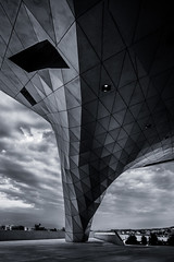 Architectural Storm (Hani Kirat Photography) Tags: lyon musée confluences bw lightroom architecture canon 6d markii ef 2470mm f4 perspective