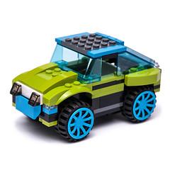 31074 alternate build (KEEP_ON_BRICKING) Tags: lego creator moc mod set rocket rally car remake rebuild alternate alternative alt suv 4x4 legocar rims lime green 2018 legocreator 31074 awesome custom design conceptcar