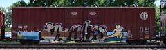 AUB's (quiet-silence) Tags: graffiti graff freight fr8 train railroad railcar art aub boxcar bnsf bnsf761011