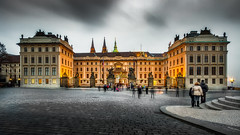 Prague Castle - Circa 2014 (Chas56) Tags: prague castle travel tourists longexposure canon people czechrepublic palace canon7d cobblestones architecture
