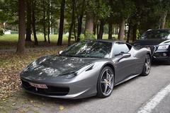 Ferrari 458 Italia (D's Carspotting) Tags: ferrari 458 italia belgium knokke grey 20161007 1dgn969 zoute grand prix 2016 zgp16 zgp2016
