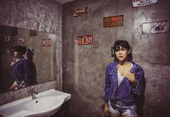 House Shoot (Photobaan) Tags: kimono beautiful model samurai sword bathroom street fashion