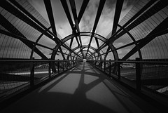 Williams Fucking Landing ii (@fotodudenz) Tags: voigtlander bessa l 12mm ultra wide heliar angle 2018 williams landing point cook train station footbridge kodak bw400cn 35mm melbourne victoria australia