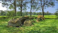 Dolmen / Hunebed D51 - Noord-Sleen, Drenthe, Netherlands - 1165 (HereIsTom) Tags: webshots travel europe netherlands holland dutch view nederland views you sony cybershot hx9v nature sun tourists cycle vakantie fietsvakantie cycling holiday bike bicycle fietsen 20 mei green sleen hunebed spring noord rocks d51 boulders big 2018 stones dolmen may lente history monument drenthe grave capstones zweeloo archaeology cultural dolmenmegalith heritage megalith megalithic dolmens tomb ruine ruinous historic