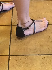 Hot Mama (2jawns) Tags: hot mom mama hotmama hotmom sexy dress legs anklet sandals pedicure pedi feet toes shiny milf married wife hotwife bright vibrant sparkle