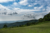 Happy Clouds (riqwammy) Tags: rockyknob blueridgeparkway brp virginia floydcountyvirginiapatrickcountyvirginia hike hiking path field trees forest mountains clouds sky blue green outside outdoors recreation nikon d750 hill hills view scenic landscape