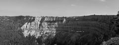 Suisse - Creux du Van (solennegau) Tags: suisse voyage trip panorama panoramique panoramic blackwhite noirblanc monochrome paysage nature nikon d3400 switzerland