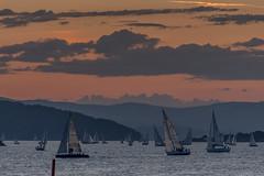 I am sailing, i am sailing.... (TLU66) Tags: ferderseilasen2018 sunset sailboats race ocean sea drøbaksund oslofjorden færdærn seilas d7100 pink