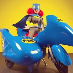 Batcycle (WEBmikey) Tags: toys batman batgirl batcycle mego figurestoycompany
