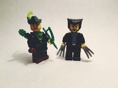 Entry to Koala's contest (bagira.norm2) Tags: superheroes superhero xmen justiceleague wolverine green arrow comics marvel dc custom customs lego