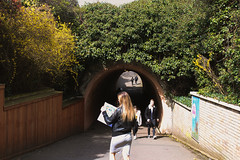 Tunnel vision (Josiedurney) Tags: zoo londonzoo camdenzoo camden london animals enclosure spring summer 2018 city uk captialcity england adventure fun beautiful amazing wildlife portraits outside naturallight daylight girl map tunnel grass sister perspective symetry central green trees