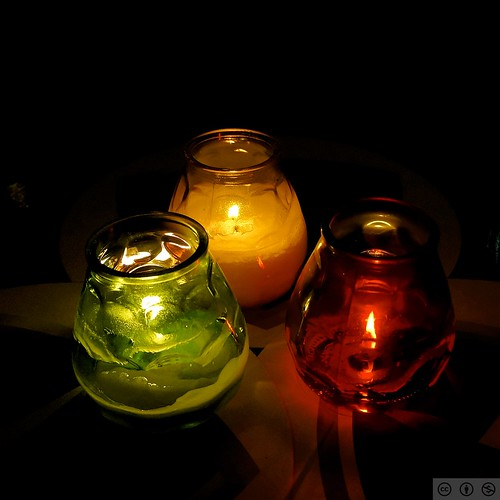 Red, Yellow, Green candle cups