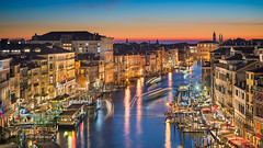 Veins of Venice (Michael Abid) Tags: venice italy skyline canal night venezia gondola grandcanal sunset canalgrande city aerial evening venetian building famous landmark palazzo palazzi sky water boat view panorama panoramic cityscape architecture