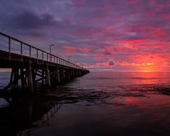 Semaphore Sunset (BTAdelaide) Tags: sunset sunlight jetty ocean seascape seaside landscape landscapephotography twilight nature natural light fujifilm beautiful beach adelaide southaustralia australia