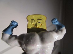 Powdered Toast Man Super Hero - Ren and Stimpy 3042 (Brechtbug) Tags: powdered toast man super hero cartoon spoof commercial character created by john kricfalusi from the ren stimpy show animation city decentville usa plastic action figure inaction toy toys comic book spumco new york sparkles 2018 nyc