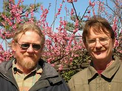 My Brother and I at Nagoya Castle (Chuck Pacific AKA Chuck Tofu) Tags: nagoya japan blossoms plum nagoyacastle brothers travel rip tribute ume