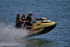 Guys Out For A Ride (Scott 97006) Tags: men boys ride seadoo water river sport fun spray craft
