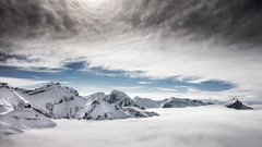Floating islands (vegard.magnus) Tags: bauges chambéry savoie montagnes mountains snow neige ski arcalod trélod école sony rx100 skiing alpes alps landscape snowscape france clouds nuage ciel sky