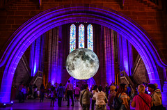 Museum of the Moon (Claire Louise Beyga) Tags: live liverpool cathedral anglican moon nasa art instalation museumofthemoon lukejerrum crater liverpoolwaterfront suset sunset nikon dslr photography