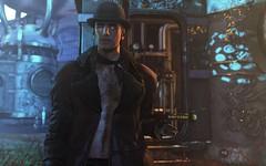 Robur the Conqueror (Tyler Oysternatz) Tags: deadwool drd robur monocle ascend 22764 bowler hat airship steampunk lenox jacket straydog