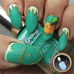 3D Peach Nail Art (ithinitybeauty) Tags: nails art design paint painting kawaii cute 3d polymer clay crafts hobbies nail nailart manicure fashion trends designs acrylic nailpolish peach fruit green barrym matte