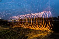 180407 6361 (steeljam) Tags: steeljam lightpainters bermondsey wire wool spinning thamse london