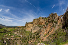 Ronda (JKmedia) Tags: ronda spain 2018 sunny summer landscape bridge manmade nature cliff steep blue sky countryside spanish high arch arches fisheye 815mm