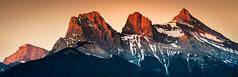 Three Sisters, Canmore (RMann88) Tags: rocky mountains mountain canmore alberta canada three sisters banff kananaskis sunrise morning sky snow nikon d810 28300mm spring