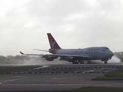 G-VLIP Boeing 747 Virgin Atlantic Airways Ltd (Aircaft @ Gloucestershire Airport By James) Tags: manchester airport gvlip boeing 747 virgin atlantic airways ltd egcc james lloyds