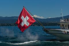 Swiss Flag (Bephep2010) Tags: 2016 77 alpha berg genfersee lacléman lakegeneva montblanc nyon sal1650f28 slta77v schweiz schweizerfahne see sommer sony switzerland vaud waadt lake mountain summer swissflag ch